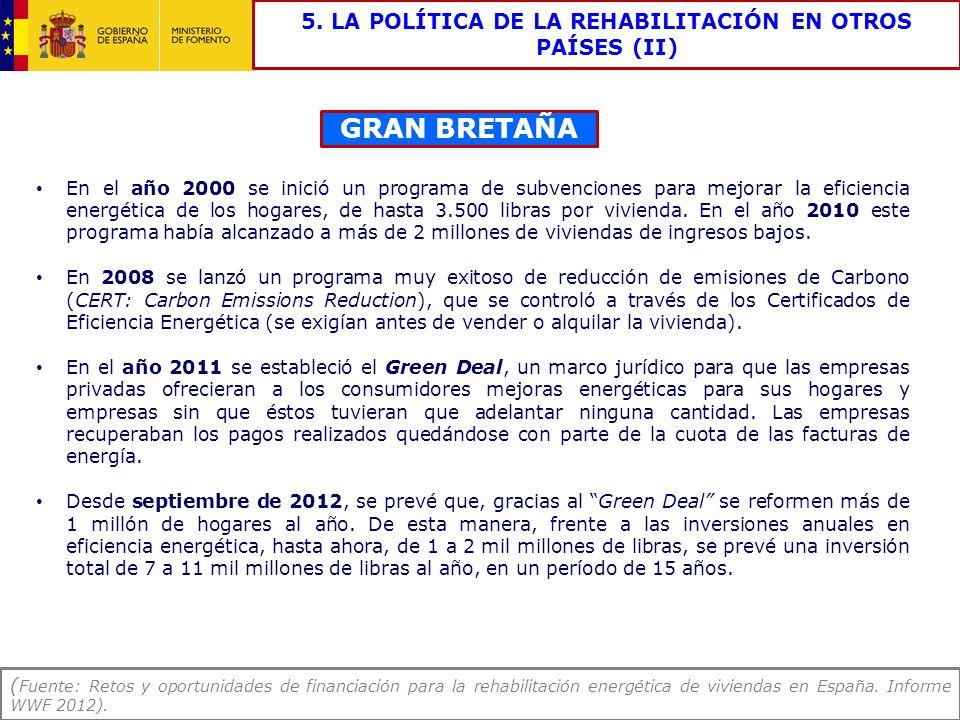 5. LA POLÍTICA DE LA REHABILITACIÓN EN OTROS PAÍSES (II)