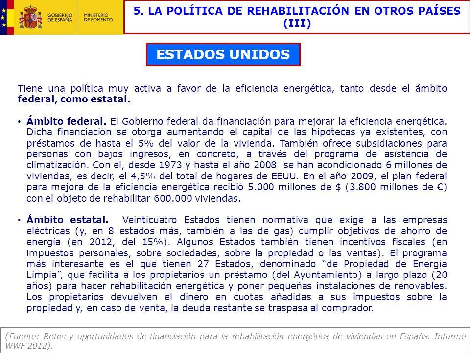 5. LA POLÍTICA DE REHABILITACIÓN EN OTROS PAÍSES (III)