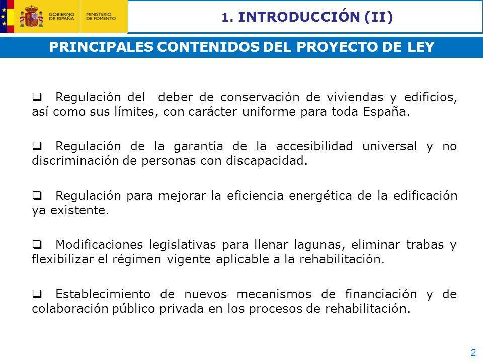 PRINCIPALES CONTENIDOS DEL PROYECTO DE LEY