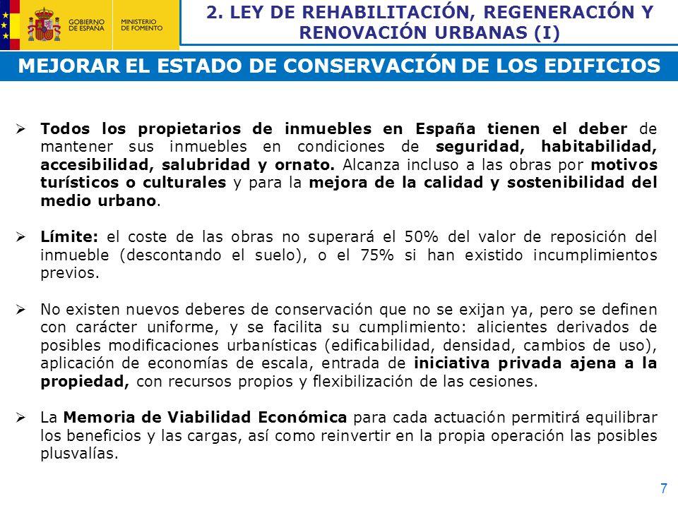 MEJORAR EL ESTADO DE CONSERVACIÓN DE LOS EDIFICIOS