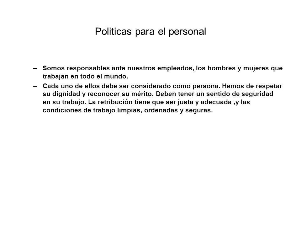 Politicas para el personal