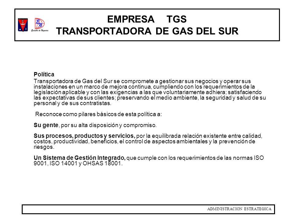 EMPRESA TGS TRANSPORTADORA DE GAS DEL SUR