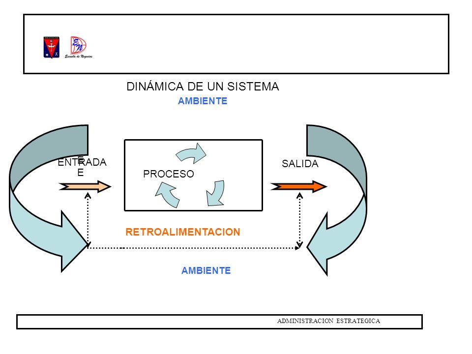 DINÁMICA DE UN SISTEMA EE ENTRADA SALIDA RETROALIMENTACION AMBIENTE