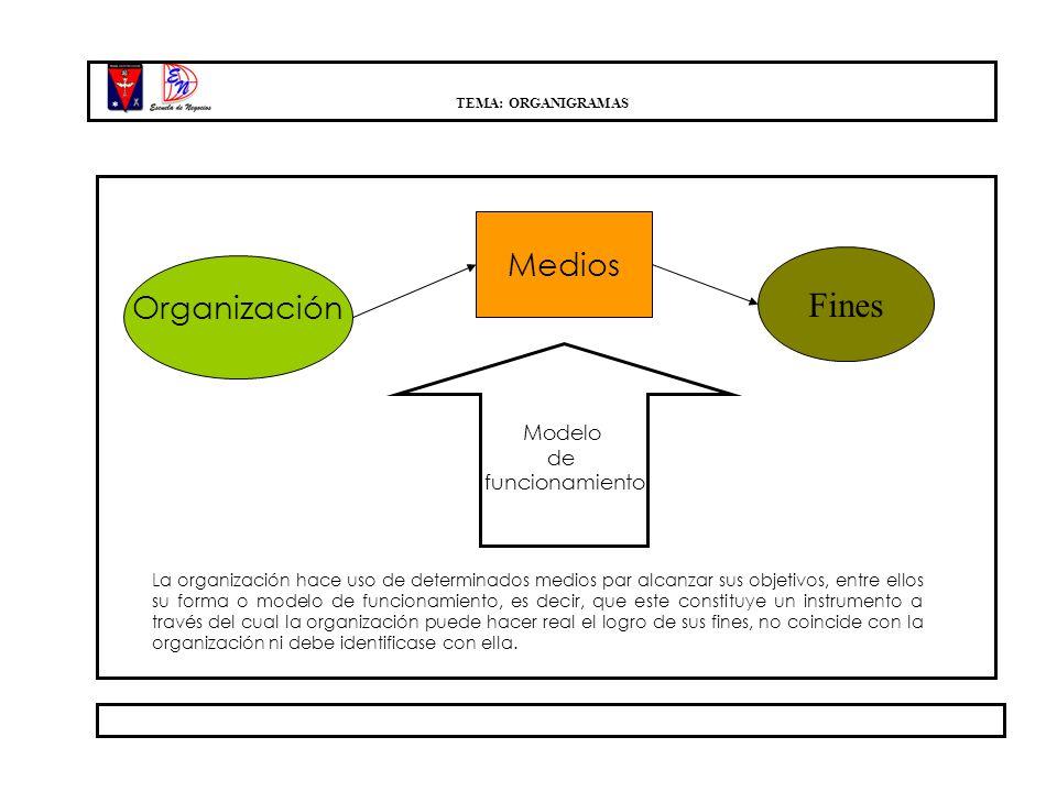 Fines Medios Organización Modelo de funcionamiento