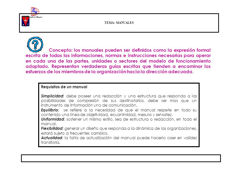 Requisitos de un manual
