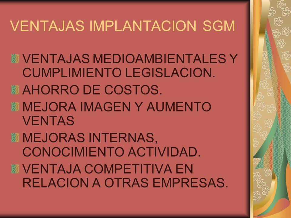 VENTAJAS IMPLANTACION SGM