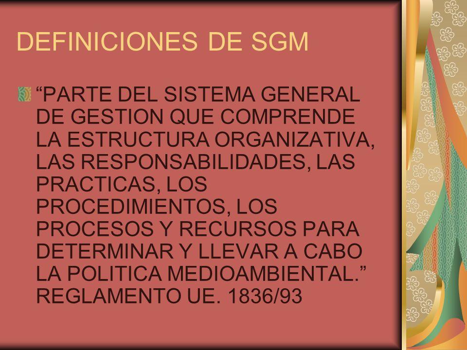 DEFINICIONES DE SGM