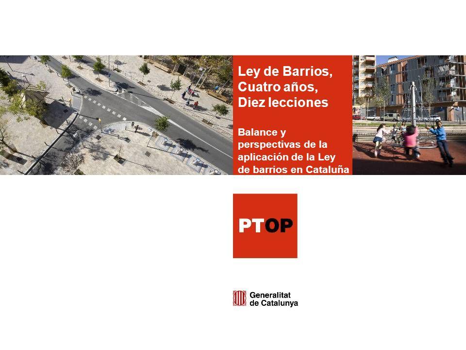 Ley de Barrios, Cuatro años, Diez lecciones