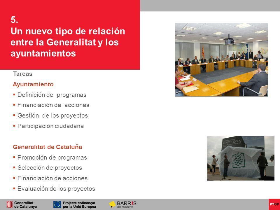 Un nuevo tipo de relación entre la Generalitat y los ayuntamientos