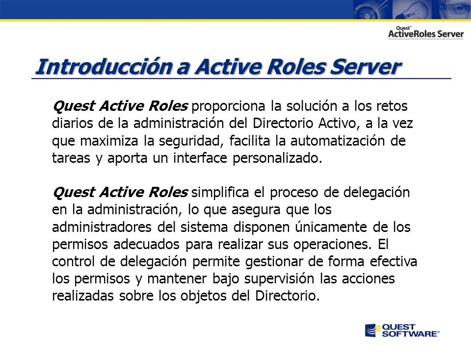 Introducción a Active Roles Server