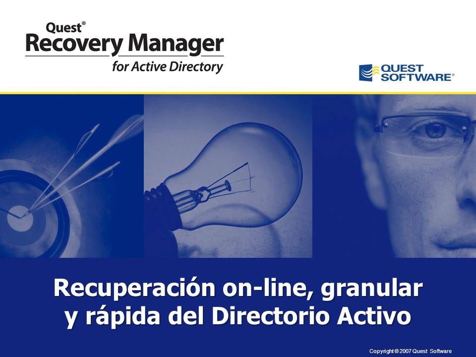 Recuperación on-line, granular y rápida del Directorio Activo