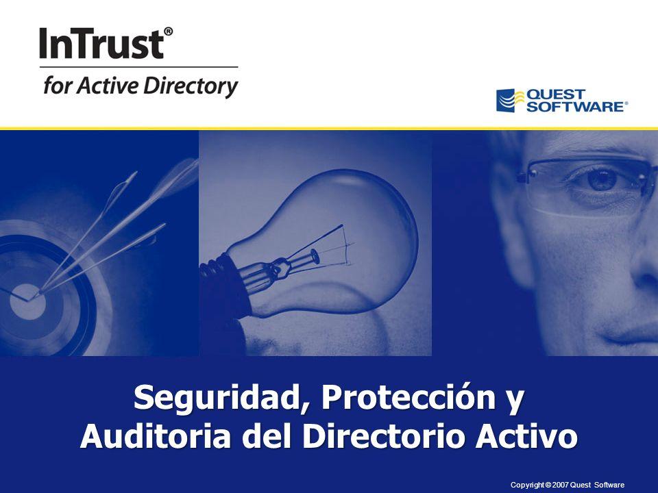 Seguridad, Protección y Auditoria del Directorio Activo