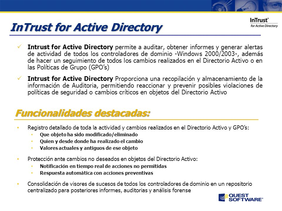 InTrust for Active Directory