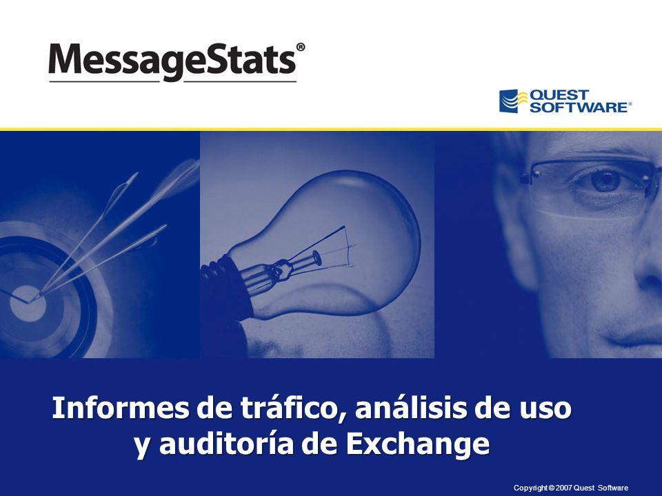 Informes de tráfico, análisis de uso y auditoría de Exchange