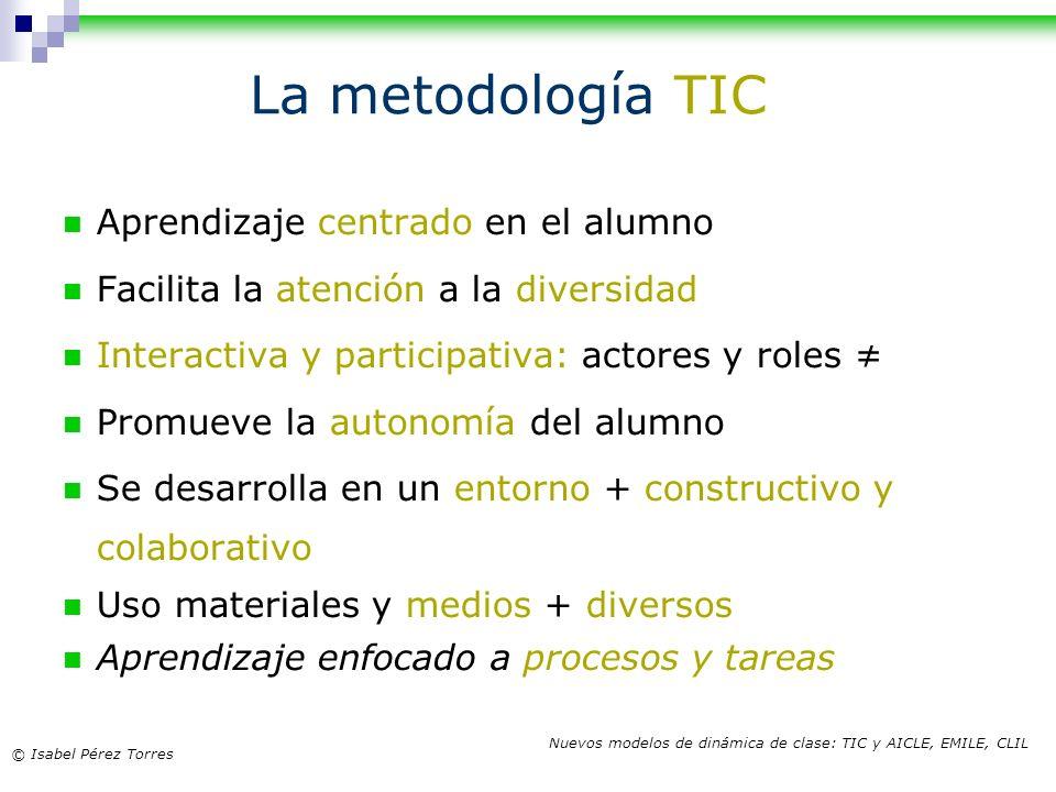 La metodología TIC Aprendizaje centrado en el alumno