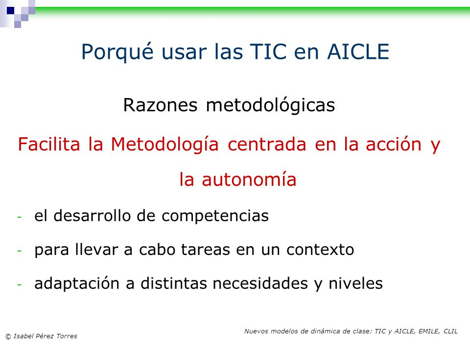 Porqué usar las TIC en AICLE