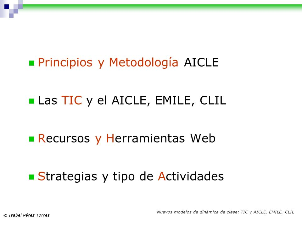 Principios y Metodología AICLE