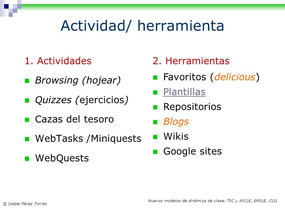 Actividad/ herramienta