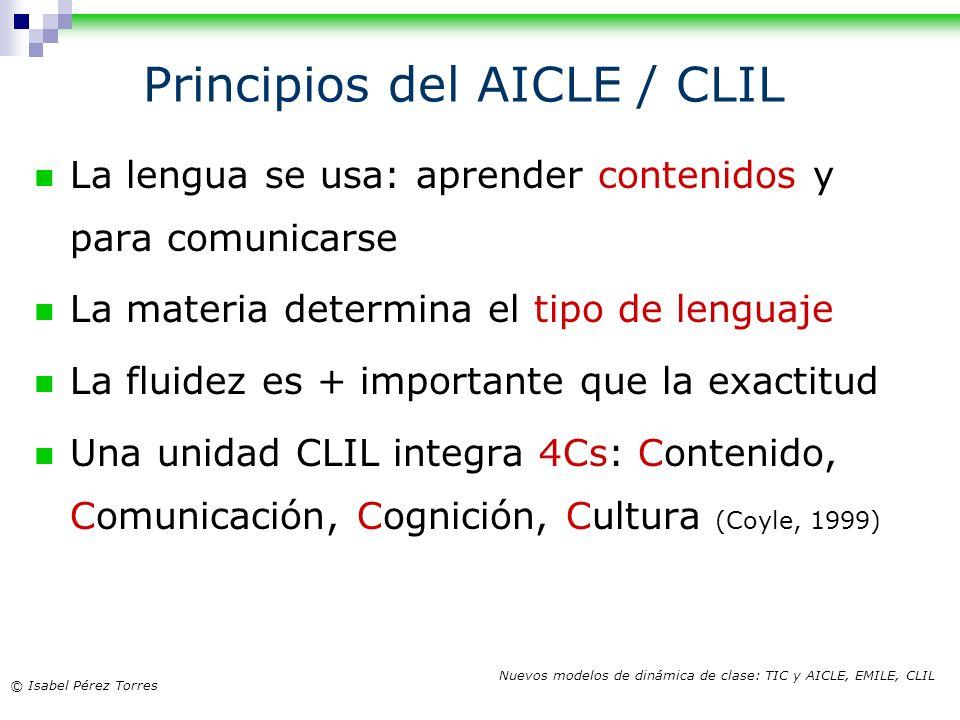 Principios del AICLE / CLIL