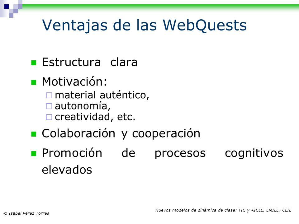Ventajas de las WebQuests