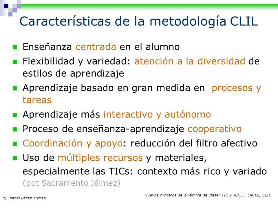 Características de la metodología CLIL