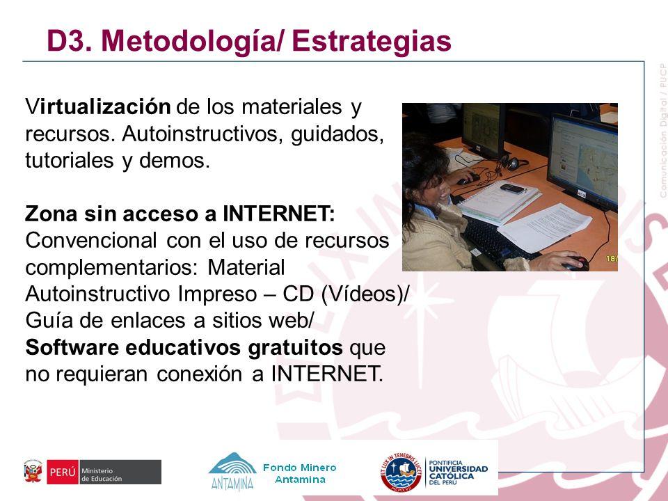 D3. Metodología/ Estrategias