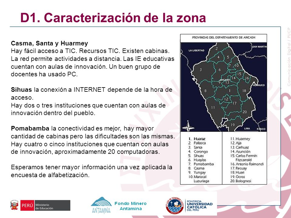 D1. Caracterización de la zona