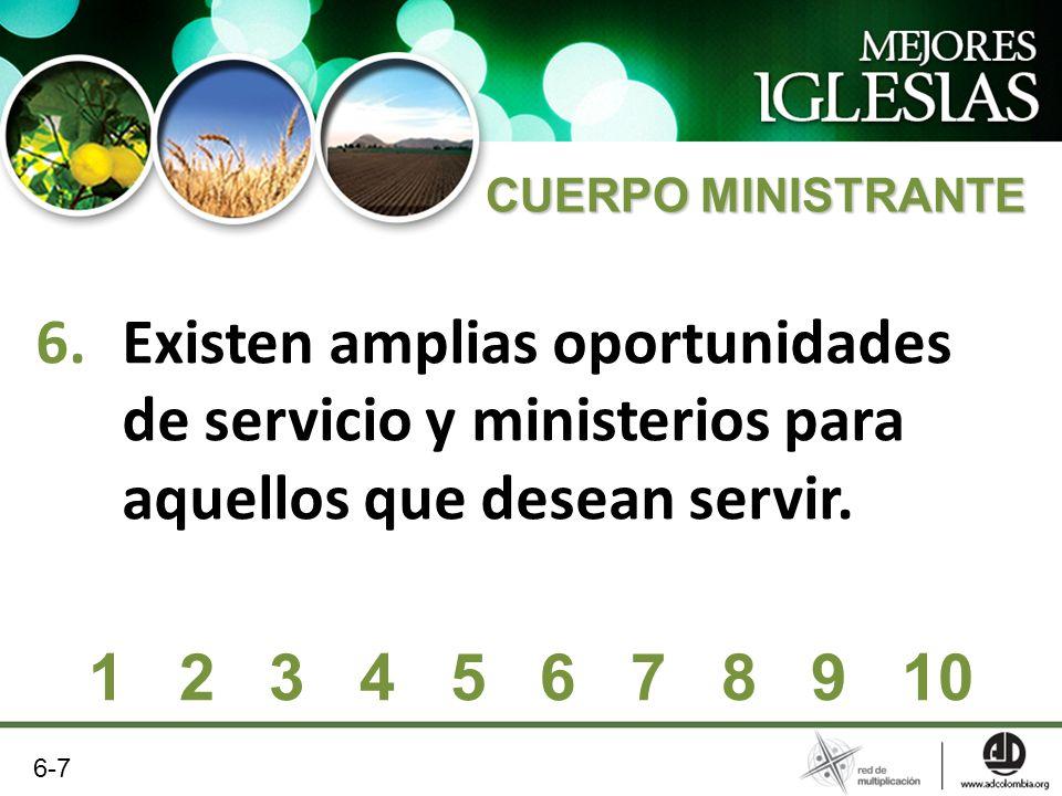 CUERPO MINISTRANTE Existen amplias oportunidades de servicio y ministerios para aquellos que desean servir.