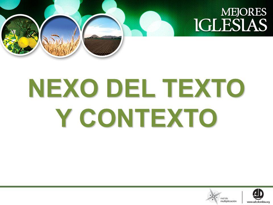 NEXO DEL TEXTO Y CONTEXTO