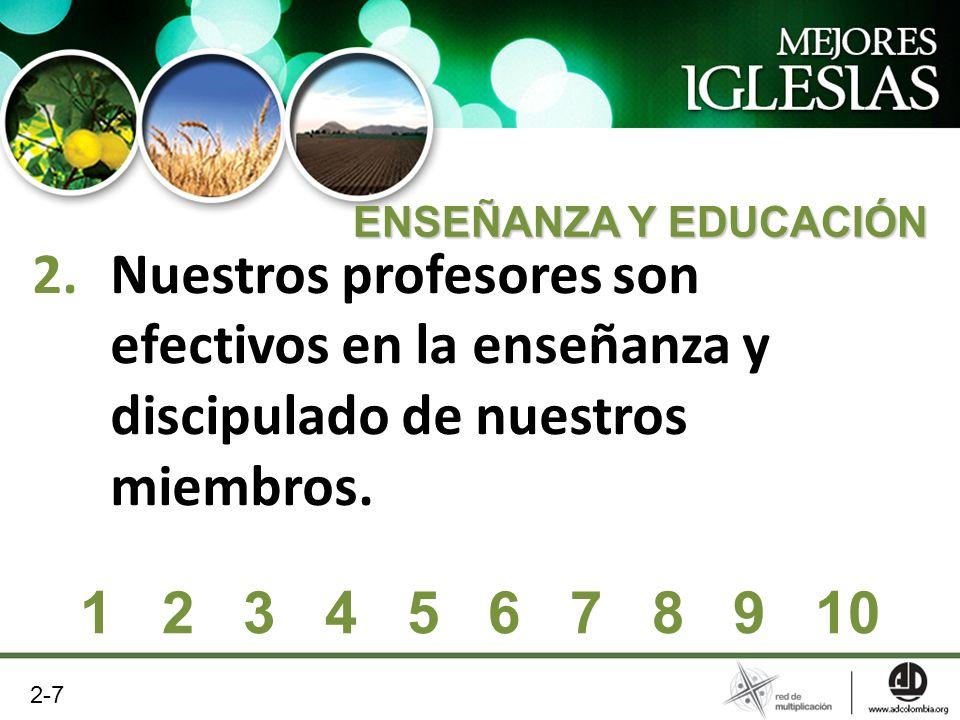 Nuestros profesores son efectivos en la enseñanza y discipulado de nuestros miembros.