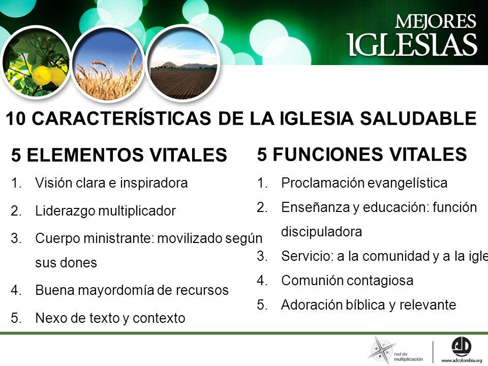 10 CARACTERÍSTICAS DE LA IGLESIA SALUDABLE 5 FUNCIONES VITALES