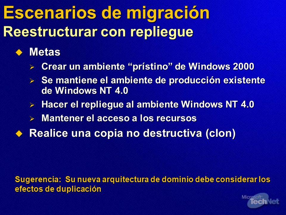 Escenarios de migración