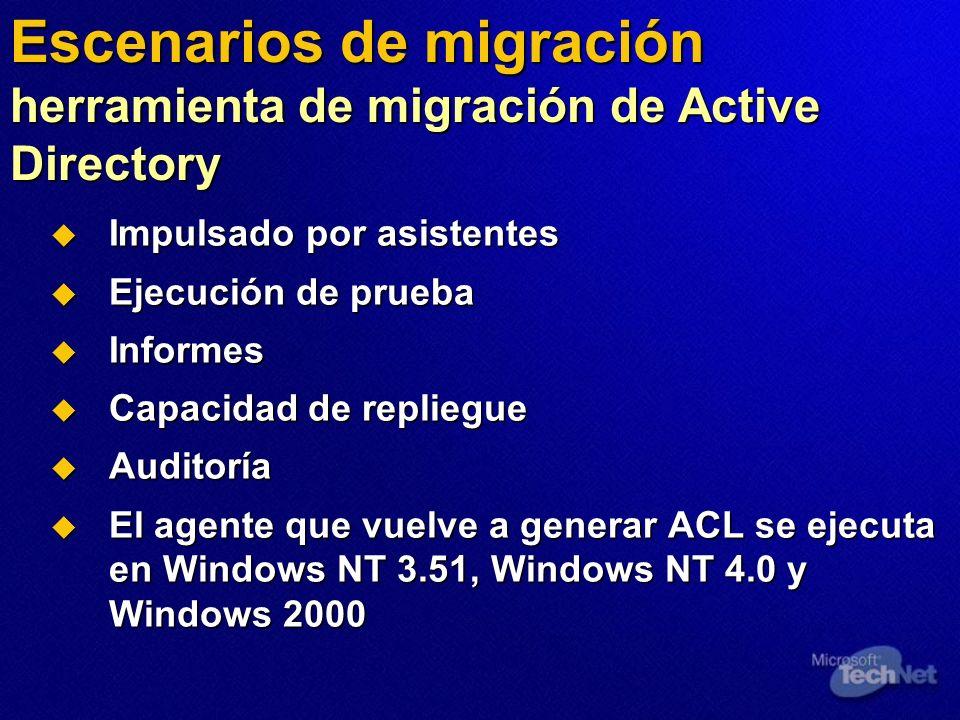 Escenarios de migración herramienta de migración de Active Directory