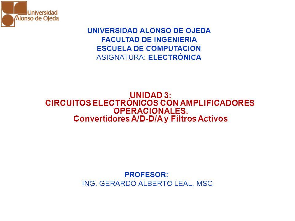 CIRCUITOS ELECTRÓNICOS CON AMPLIFICADORES OPERACIONALES.