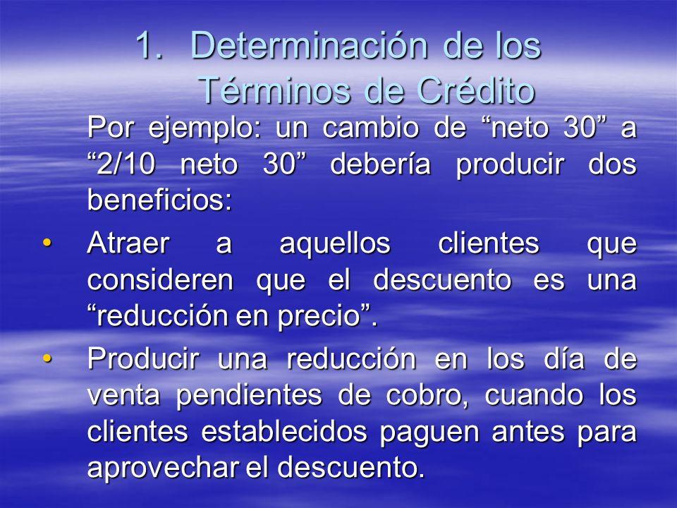 Determinación de los Términos de Crédito