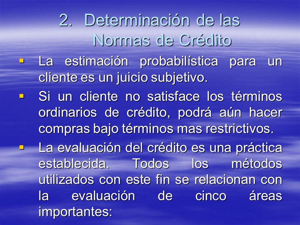 Determinación de las Normas de Crédito
