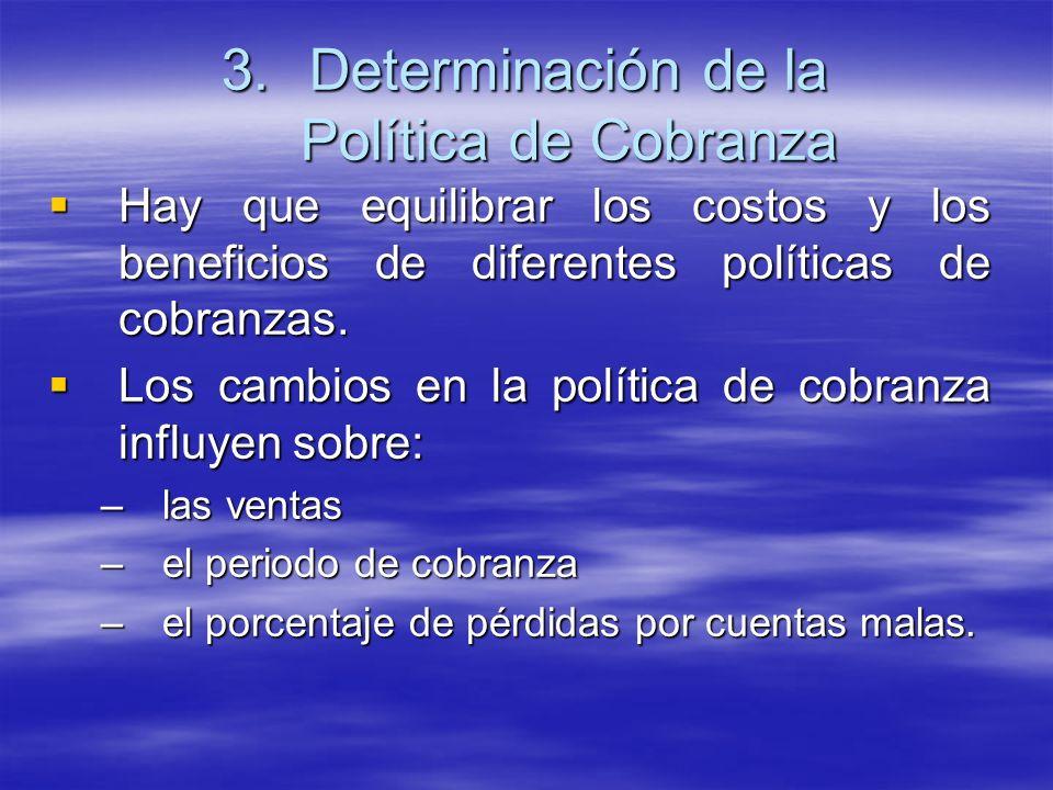 Determinación de la Política de Cobranza