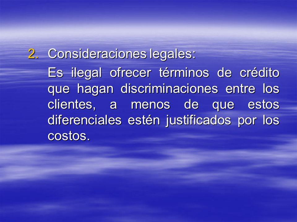 Consideraciones legales: