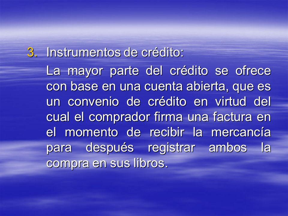 Instrumentos de crédito: