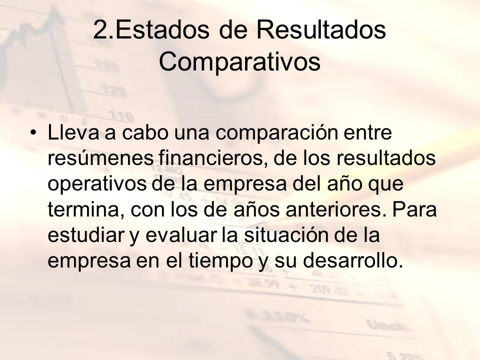 2.Estados de Resultados Comparativos