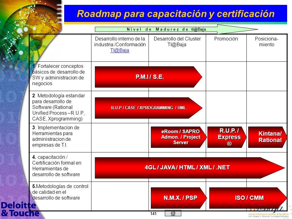 Roadmap para capacitación y certificación
