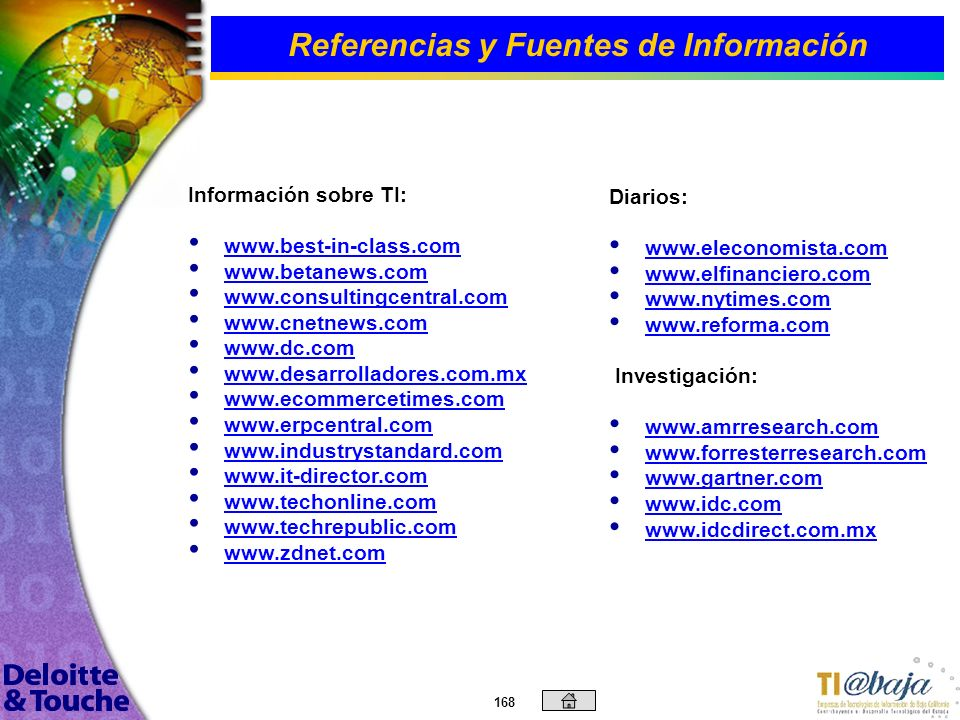 Referencias y Fuentes de Información