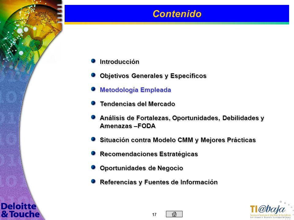 Objetivos Contenido Introducción Objetivos Generales y Específicos