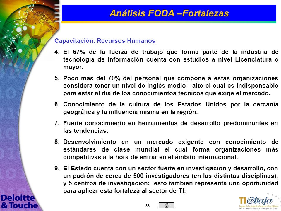 Análisis FODA –Fortalezas