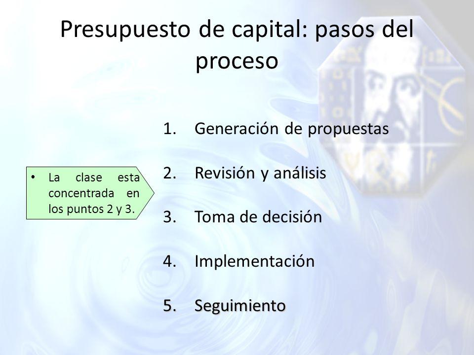 Presupuesto de capital: pasos del proceso