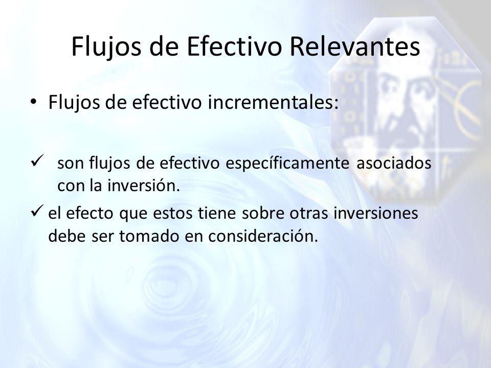 Flujos de Efectivo Relevantes