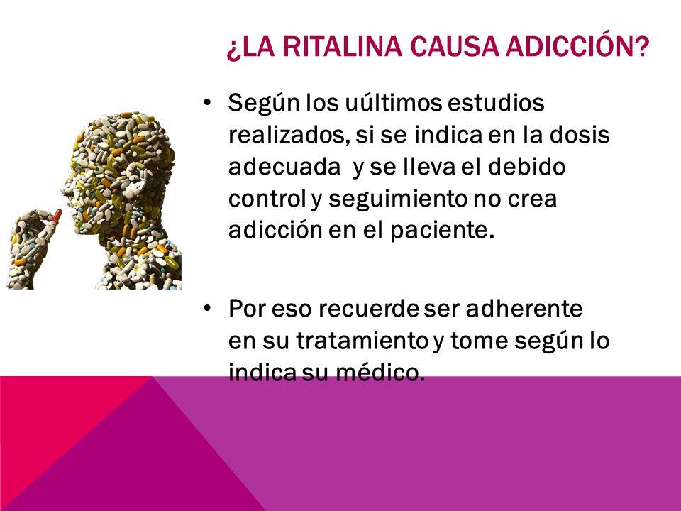 ¿la ritalina causa adicción