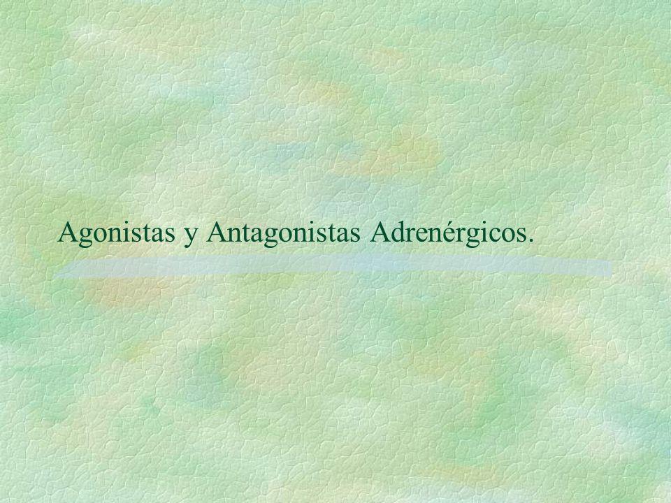 Agonistas y Antagonistas Adrenérgicos.