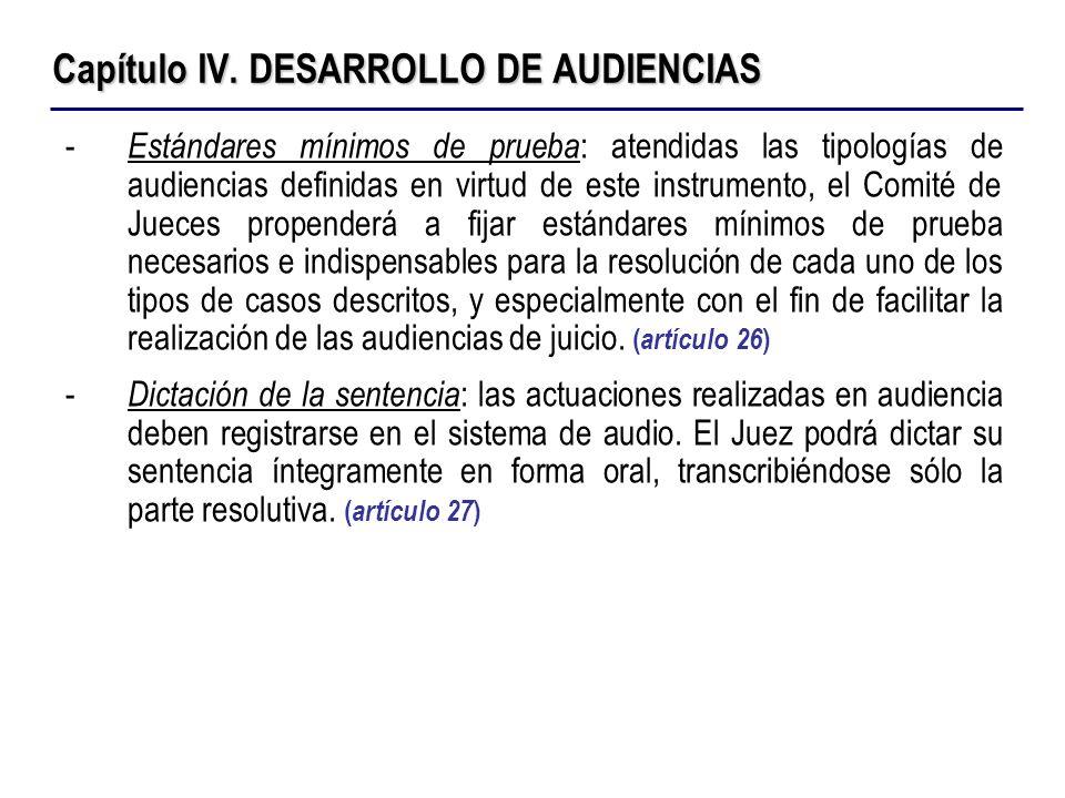 Capítulo IV. DESARROLLO DE AUDIENCIAS