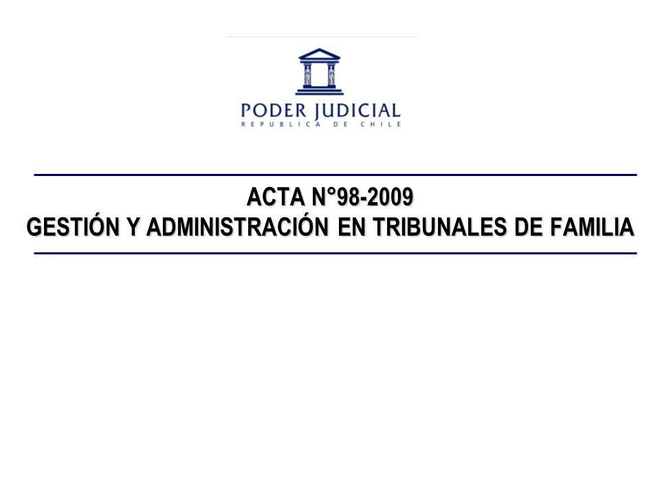 ACTA N°98-2009 GESTIÓN Y ADMINISTRACIÓN EN TRIBUNALES DE FAMILIA